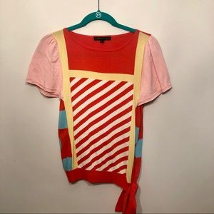 Bright Colored Marc Jacobs Sweater Top With Bow